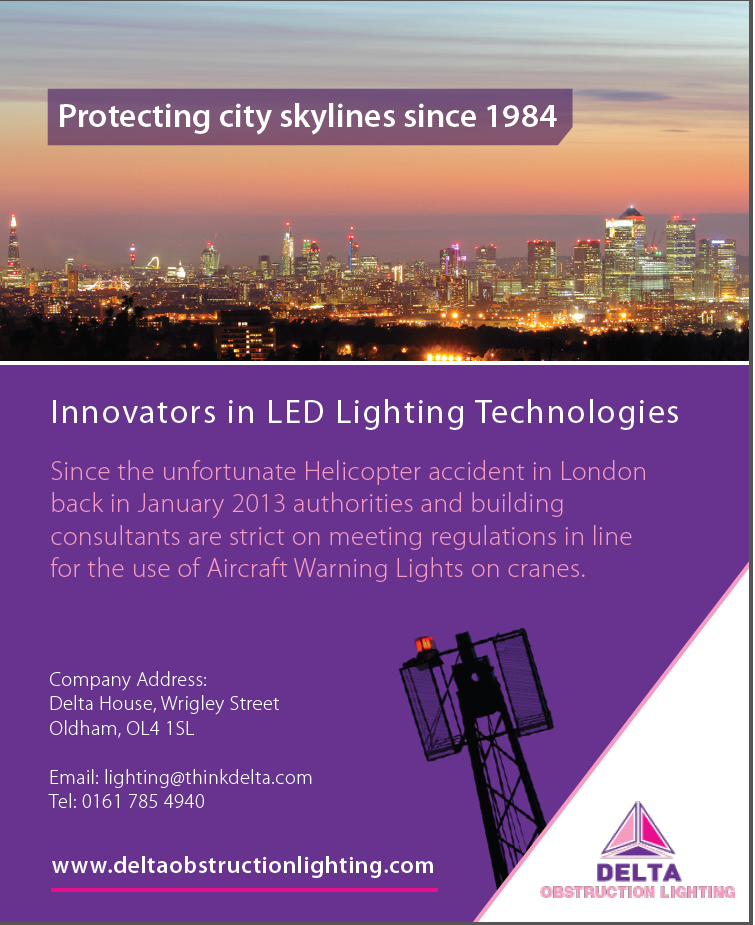 delta obstruction lighting advertising in europe outlook magazine