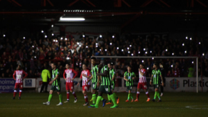 Accrington wimbledon floodlight pic