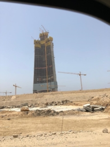Kingdom Tower under construction